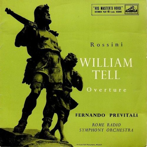 FERNANDO PREVITALI Rossini - William Tell Overture Vinyl Record 7 Inch HMV